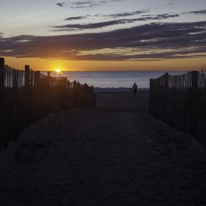 Beach access, Rehoboth Beach, Delaware.