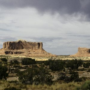Two buttes, Canyonlands National Park, Utah