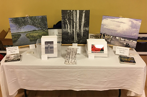Art show table.